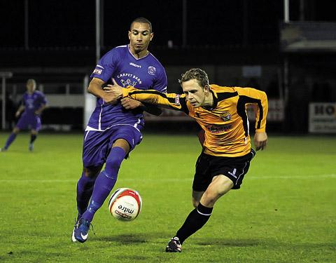 Dean Griffiths in action against Bashley on Tuesday (Photo: Robin Foster)