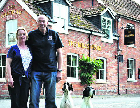 Kate and Cliff Patterson, who have taken over The Millstream pub, Marden. The couple, from Rowde, have lived in France for seven years