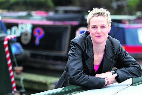 Jo Bell on her narrowboat PICTURE: Andy Pratt