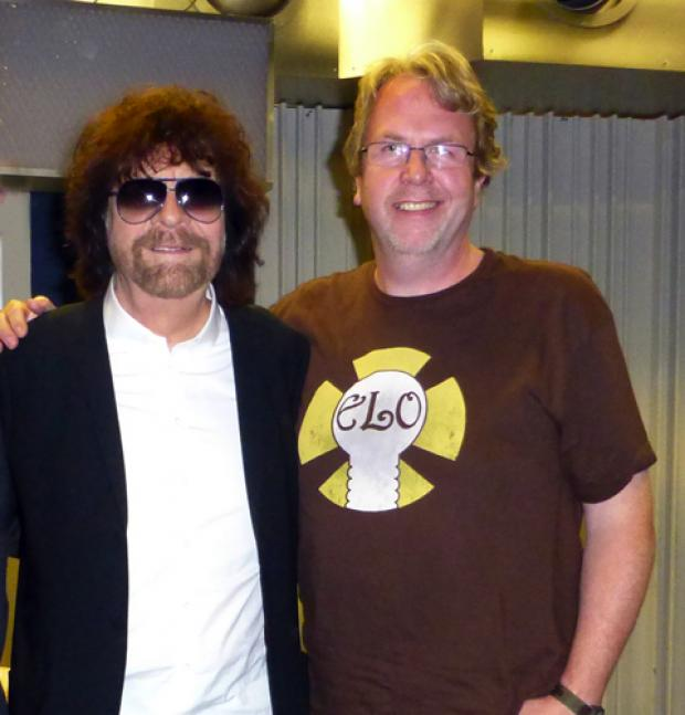 Ian Hawkes with ELO's Jeff Lynne
