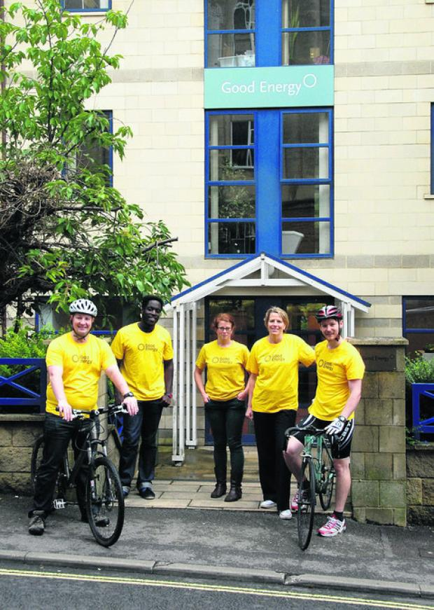 Some of the staff who took part in Sustrans' Big Cycle and Walk Challenge