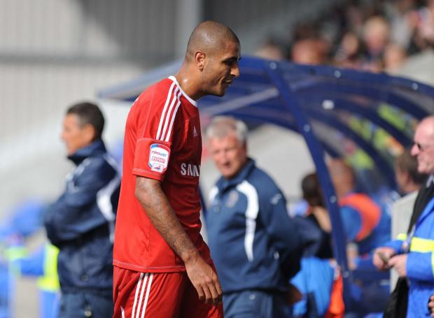 BUST-UP: Leon Clarke during his spell at Swindon