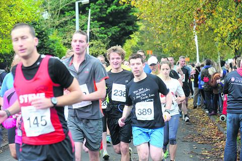 Runners show their determination on the course