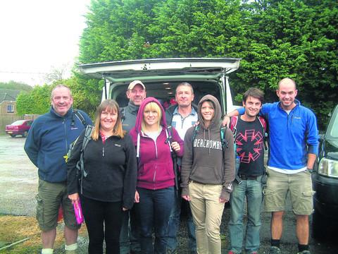 CHALLENGE: Members of Katch all set to depart on their mountain climb in aid of Bristol Children's Hospital