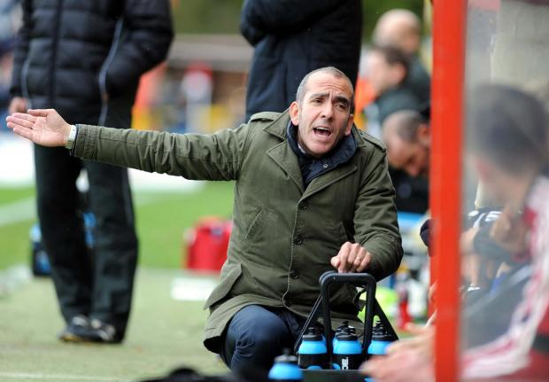 'KICK THEIR BOTTOMS': Paolo Di Canio on the touchline at Stevenage