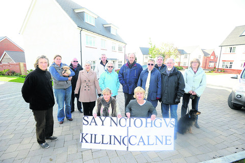 Residents from Hastings Road, Calne, who are concerned about proposals which could lead to multiple lorries passing their homes