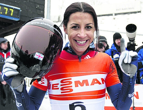 Shelley Rudman clinched her first World Cup win of the season today