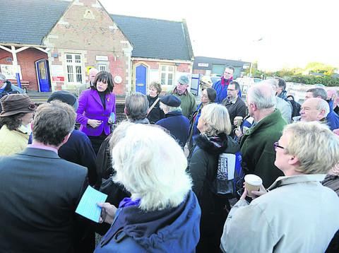 Claire Perry gathers the views of commuters this morning