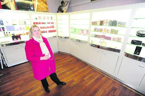 Lis Williams of the Perfumery  in Marlborough who had her stock stolen from her business last year
