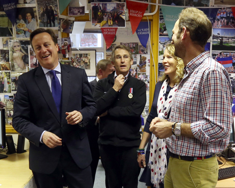 Prime Minister visits Help For Heroes centre in Wiltshire