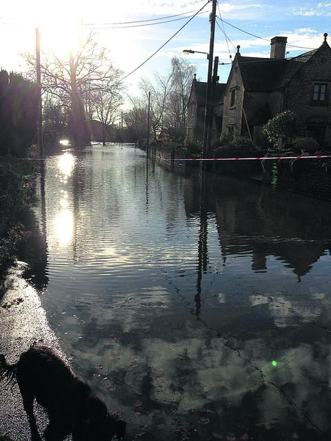 The flooding in Alderton