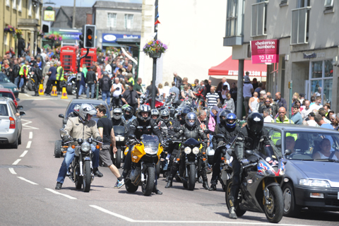 Last year's Calne motorbike meet attracted hundreds of bikers from all over the world