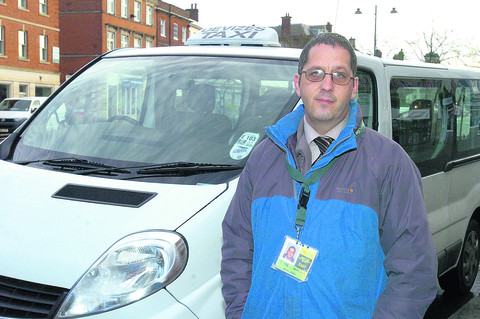 Darren Jones has been driving taxis for eight years but the council is now taking away his licence