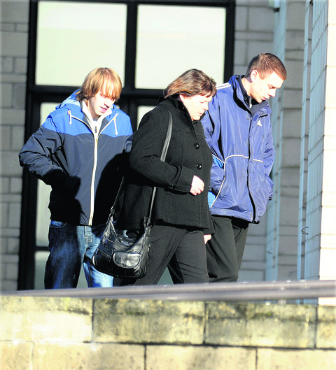 Daniel Mallett arrives at North Wiltshire Magistrates' Court