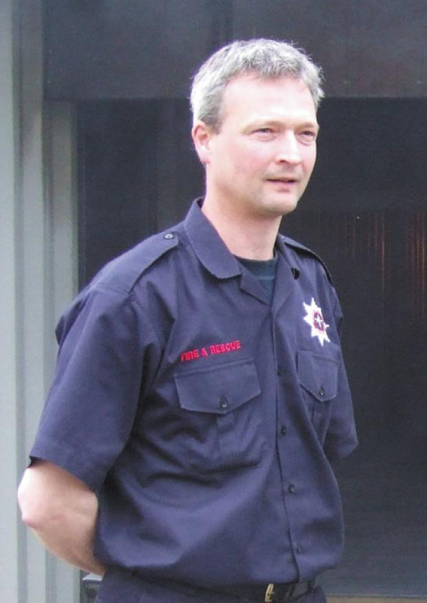 The Wiltshire Gazette and Herald: Steven Mills, Cotswold Airport's fire services manager, died when a high pressure cylinder exploded