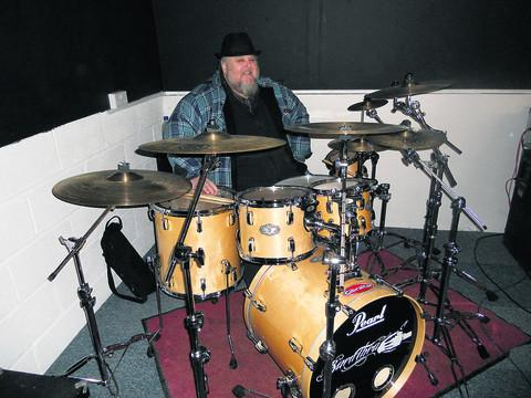 Greg Barrett, founder of G Studios, on his drum kit