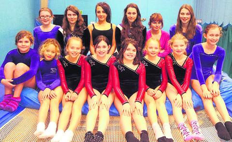 The Wiltshire Gazette and Herald: QUALIFYING JOY: The squad from Marlborough that performed well at the South West School trampoline finals in Bristol