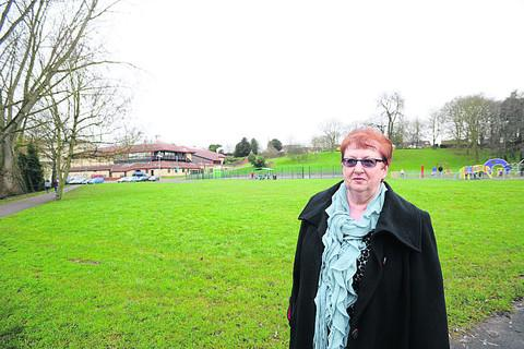 Coun Desna Allen near the proposed site for a skate park in Monkton Park