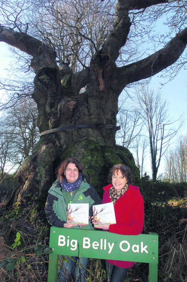 Author Barbara Townsend with Heather Lilley, from the Forestry Commission, with the book