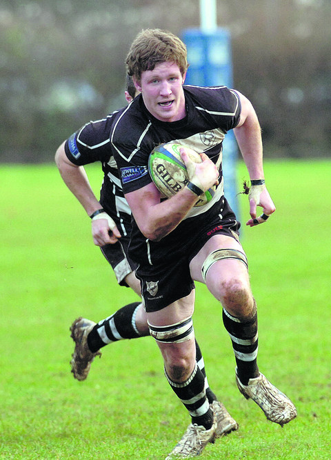 Chippenham skipper Bobby Lyons goes on the attack during his side's victory over Oxford Harlequins (Picture by Paul Morris)