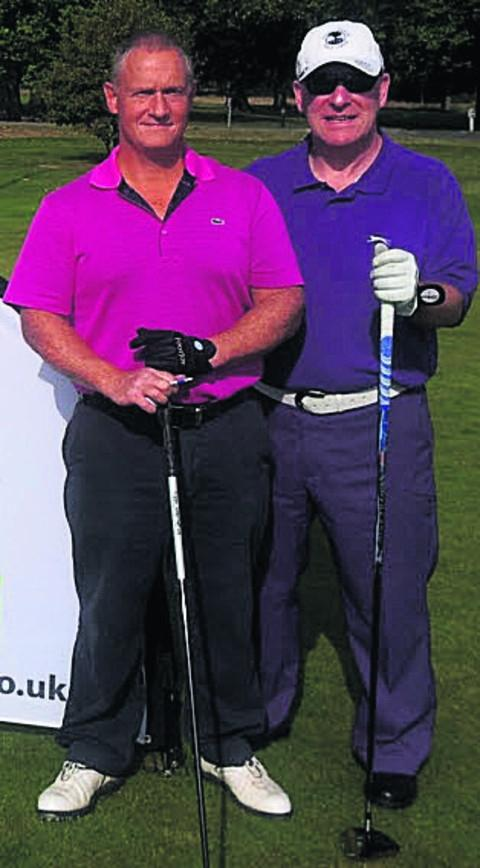John Woodward (right) with playing partner Gary Prescott