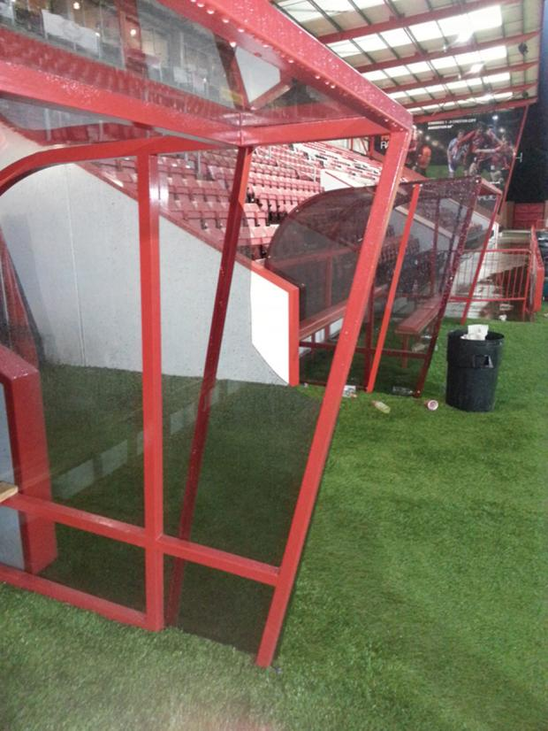 BIG BREAK: Town's dugout at Bournemouth