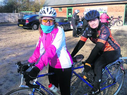 Amanda Nelson, 43, right, who plans to ride from Lands End to John  O'Groats with her friend, Emma Ryder