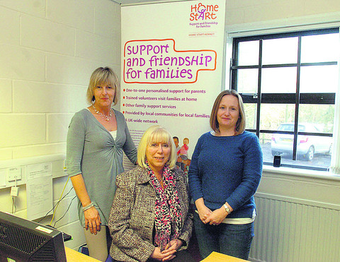 Bel Crompton, Amanda Haines and Karen Carter of Home Start Kennet