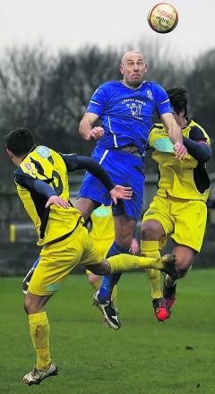 Aaln Griffin rises high in Chippenham's draw with Gosport last weekend