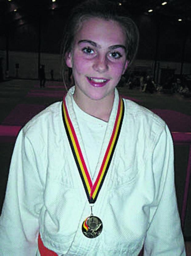Lea Judo Club's Ellen Holder with her European bronze medal