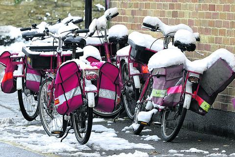 It's not biking weather for Melksham's postal staff