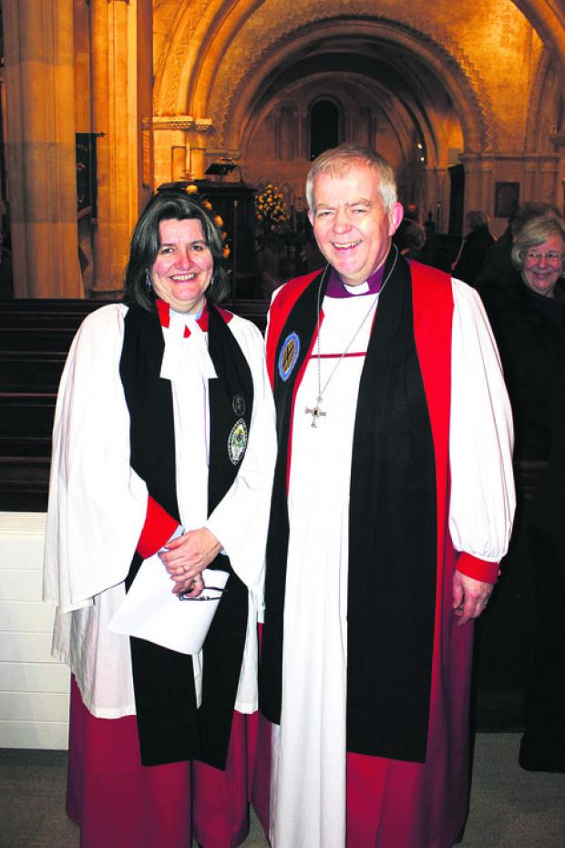 The Wiltshire Gazette and Herald: The Ven Ruth Worsley with the Bishop of Salisbury, the Rt Rev Nicholas Holtam