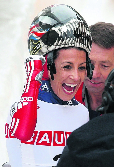 SKELETON BOB: Golden girl has Olympic target