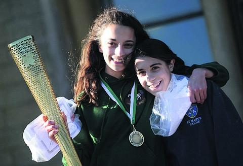 The Wiltshire Gazette and Herald: Junior girls' winner Yasmin and Ariana Watling, for North Wilts