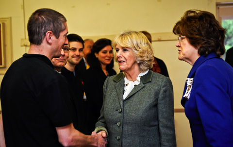 Camilla thrills volunteers during Wiltshire visit