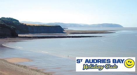 Beautiful St Audries Bay, near Minehead in Somerset