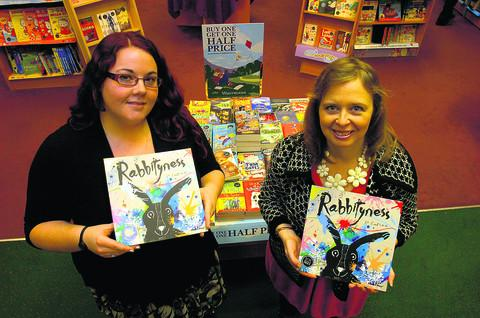Jo Empson, right, with Jenny Wells, of Waterstone's Children's Books