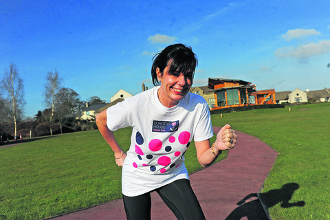 Calne town clerk Linda Roberts prepares for the Great North Run in aid of Dorothy House hospice