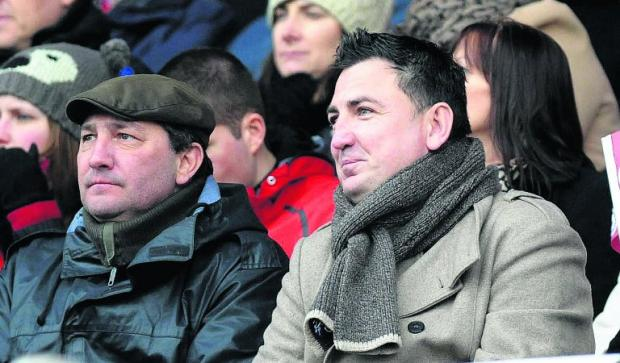 Jed McCrory, right, is the new chairman of Swindon Town