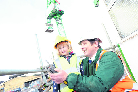 Devizes youngster hears some tall tales about town's mighty crane