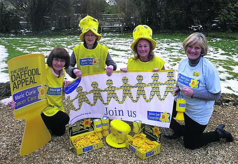 Celebrating the launch of the new Marie Curie Cancer Care fundraising group are Susy Lenihan, Caroline Fremantle, Anne Orchard and Anne Sherwin