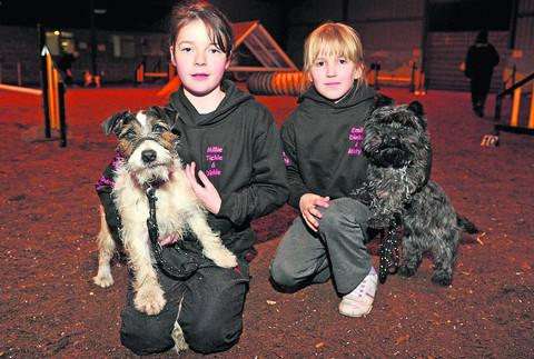 Millie Sawyer with Tickle and Emily Belcher with Dinkie, who are taking part in national competition Crufts