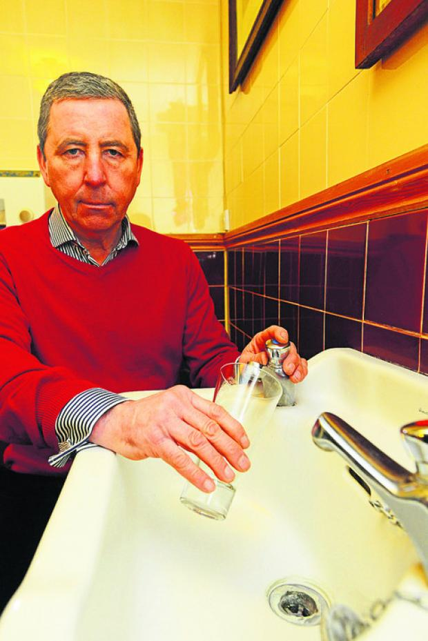 John Desmond at The Horse Shoe in Mildenhall, which lost its water supply on Sunday at lunchtime