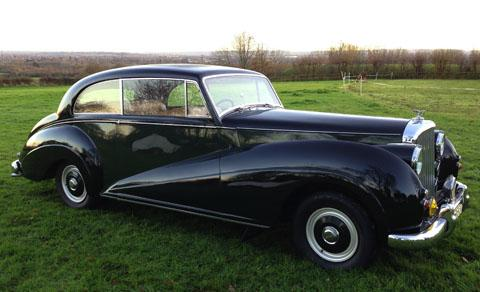 The 1952 Bentley up for auction