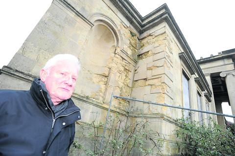 Ted East, chairman of the Trust for Devizes, outside the former Assize Courts