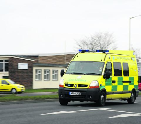 A South Western Ambulance Service 999 crew in action