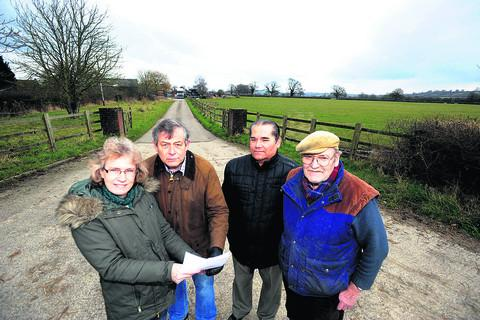 Felicity Reynolds, Tim Reynolds, Geoffrey Conway and Dick Gibbs oppose plans for a lagoon
