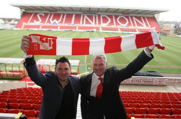 New Town boss Kevin MacDonald (left) with chairman Jed McCrory