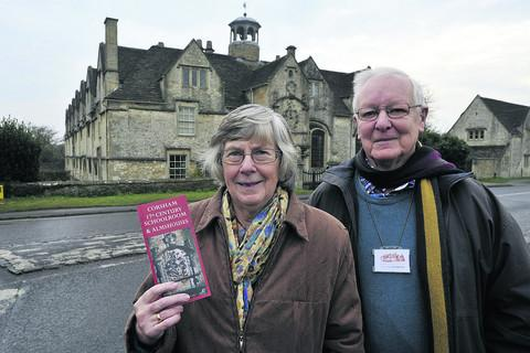 Guides Peter and Marian King at the almshouses