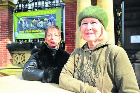 Suzie Fisher and Edwina Fogg are organising a race night for the Mike Bracey Appeal